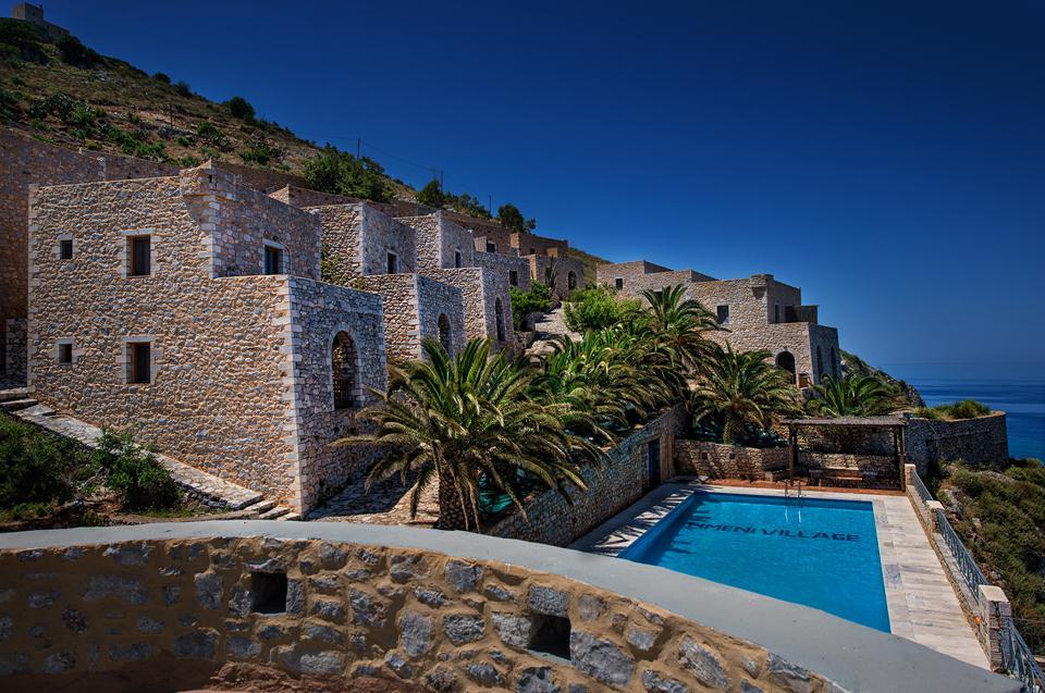 exteriors  limeni village | Mani